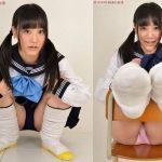 【浜田由梨】セーラー服の下に紺ブルマを履いた美少女のセラブル姿