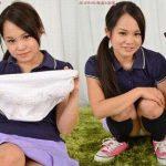 【大桃りさ】ツインテールの激ロリ美少女が紫色のテニスウェアでパンチラ