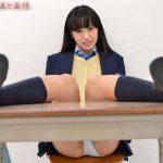 【大島珠奈】正統派黒髪ロングヘアの美少女JKの制服パンチラ