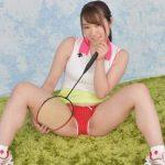 【若宮穂乃】王道美少女がテニスウェアでアンスコ&パンティをパンチラ