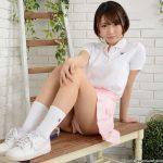 【菊川みつ葉】桜のピンクのようなテニスウェアの美少女のパンチラ
